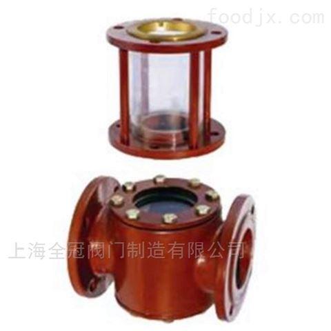TS不锈钢视镜船用法兰式铸钢JIS液流观察器