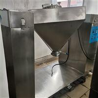 F100颗粒粉沫不锈钢四方锥混合机运动
