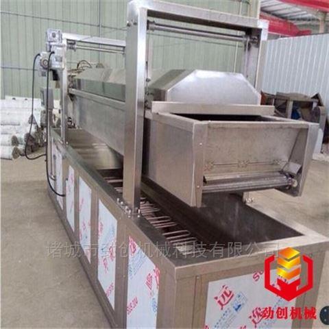全自动连续式燃气加热豆制品油炸线