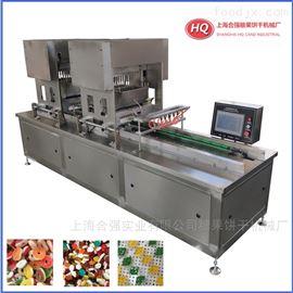 HQTG-50型双头50~80kg产量伺服糖果机 双色软糖浇注生产线