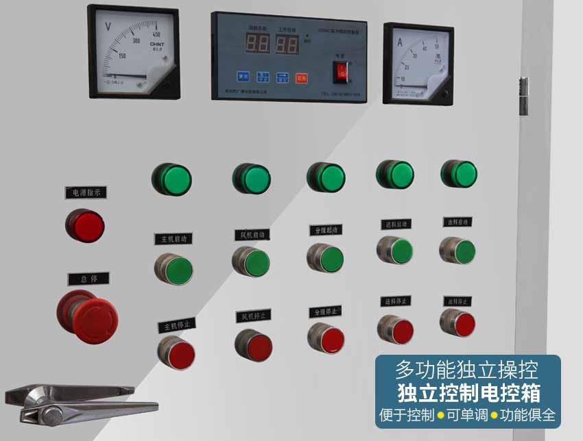 超微粉碎机组控制面板