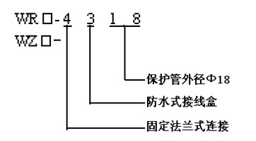 法兰连接热套热电偶(热电阻)型谱